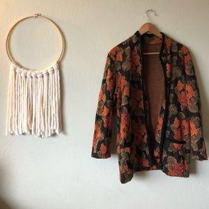Sweaters - • Vintage Floral Jacket / Sweater •
